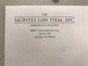 Montes Law Firm Letterhead